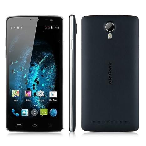 "Bleu foncé ULEFONE BE PURE 3G Smartphone Octa Core 5.0""HD IPS OGS Ecran Android 4.4 Kitkat Octa Core MT6592M 1Go RAM 8Go ROM Double SIM Double Caméra 8MP&2MP support WIFI GPS OTG Gesture Sensing Bluetooth Compatible avec Orange SFR"