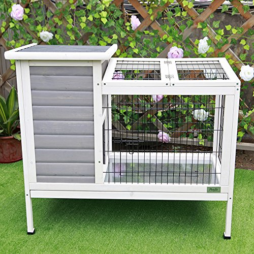 Petsfit-Rabbit-HutchBunny-CageBunny-Hutch-Wood-for-Indoor-Use