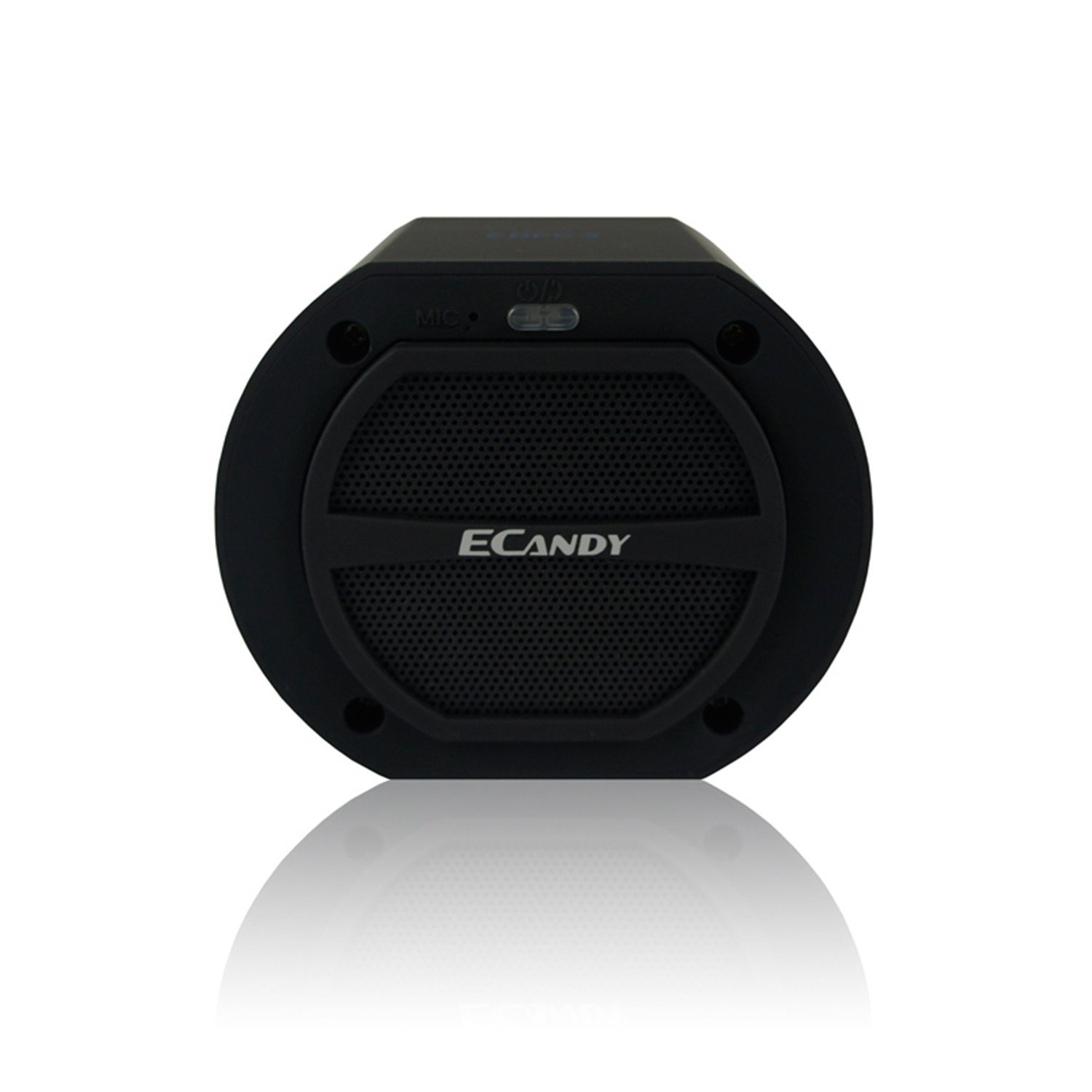 Ecandy Bluetooth Speaker, 10 Hour Playtime, Portable Speaker System, Built In Mic For Calls / NFC Function / For All iPhone / iPhone 6 / iPhone 6 Plus / All iPad / iPad Air 2 / All Phones / Samsung Galaxy Phones & Tablets / Laptops portable wireless bluetooth speaker system talking caller id speakerphone sd card slot charzon mmbox for iphone android smart phones ipad tablets macbook notebooks not for windows 8 built in voice guidance for easy installation no risk t