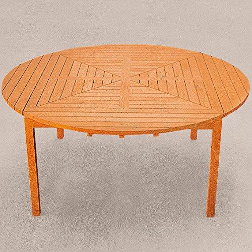 Gärtner Pötschke TEAK-Drei-in-Eins-Tisch (rund, oval & quadratisch)