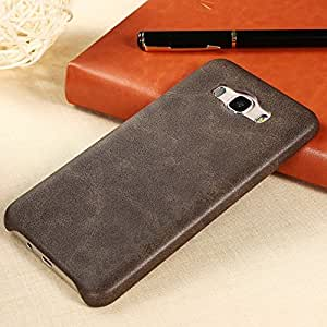 Dcent Soft PU Leather Back Case Cover For Samsung Galaxy J7 - Brown