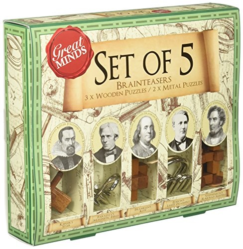 Great Minds Set of 5 Puzzles (Mind Teaser Games compare prices)