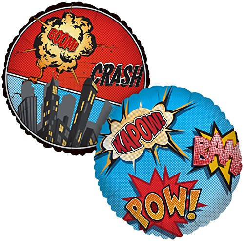 Birthday Express - Superhero Comics Foil Balloon