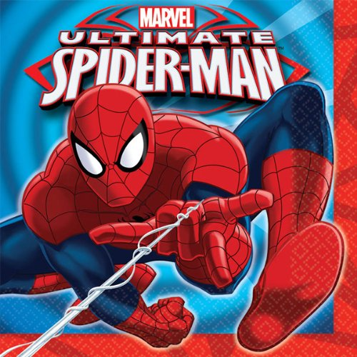 16 Count Spider-Man Lunch Napkins, Multicolored - 1