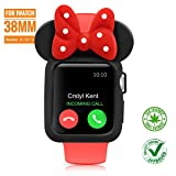 SEANADO 38mm Apple Watch Case, Unity Series Premium Protective Bumper Case Compatible iWatch Series 3, Series 2, Series 1 Newest Released(Black-Red) (Color: Black Red 38mm)