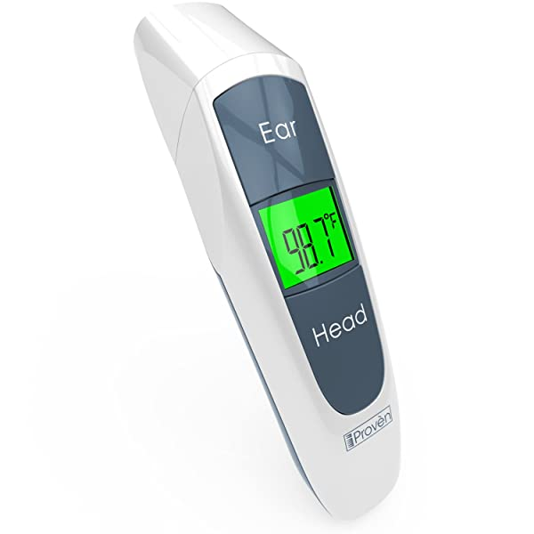 Digital Ear Thermometer For Kids - Baby Thermometer Forehead and Ear - Temporal Digital Thermometer For Fever - Termometro Digital Baby - Temporal Thermometer Adult - Kids Thermometer (Color: White)