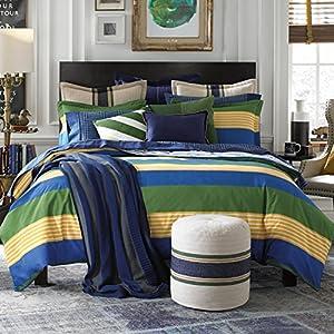 Amazon.com - Tommy Hilfiger Malibu Stripe Comforter Set, Twin, Grey -