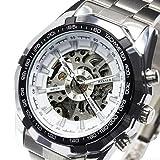 ・メンズ腕時計 3Dフルスケルトン自動巻き腕時計 メンズ スケルトン 重厚さと上品さを兼ね揃えたメンズ機械式モデル ホワイト