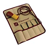 Flexcut Carving Tools, Printmaking Set, 4 Carving Blades and Quick-Connect ABS Handle Included, 5-Piece Set (SK130) (Color: Brown, Tamaño: Printmaking Set)