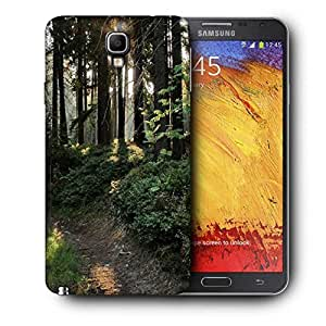 Snoogg No Way In Forest Printed Protective Phone Back Case Cover For Samsung Galaxy NOTE 3 NEO / Note III