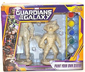 Guardians of the Galaxy Star-lord/rocket Racoon Paint Your Own Statue