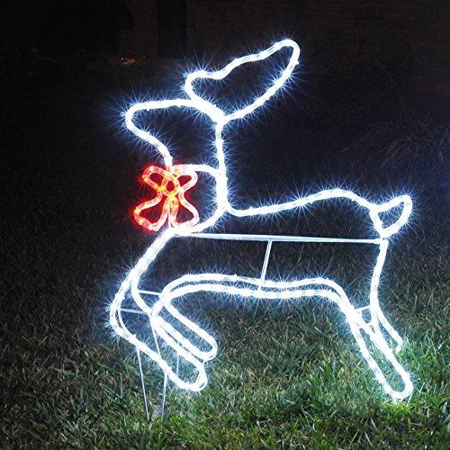 Luci babbo natale - Renna natalizia luminosa per giardino ...