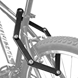 Trelock Bike Folding Lock, Heavy Duty Steel 34 Inch Bar with Two Keys and Storage Mounting Bracket