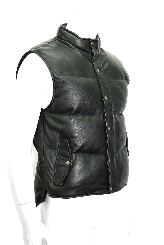 Mann schwarz KugelsteppfutterWalknappa -Leder-Taillen -Mantel-Jacken günstig