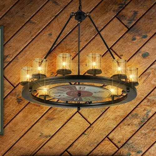 CHX Wrought iron chandelier vintage industrial loft style living room chandelier creative design restaurant, coffee shop, bar pendant 620650mm 0