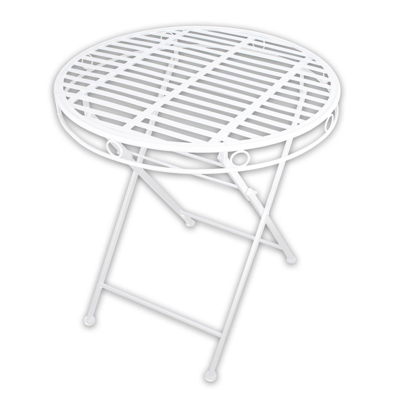 """1x Metall Gartentisch """"White Spirit"""" in weiß lackiert für indoor und outdoor jetzt bestellen"""