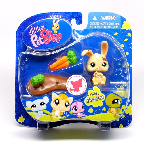 Littlest Pet Shop Assortment 'A' Series 3 Collectible Figure Bunny with Mud Puddle - 1