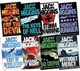 Jack higgins jack higgins 8 Books Collection Pack (Without Mercy, Pay the Devil, The Keys of Hell, East of Desolation, Midnight Runner, Storm Warning: The Epic World war II Adventure, Bad Company, Passage By Night)