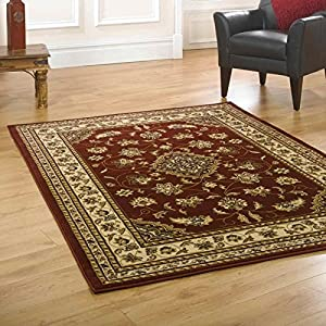 Flair Rugs Sincerity Sherborne Rug, Red, 60 x 110 Cm by Flair Rugs
