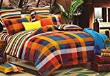 WRAP 100% COTTON DOUBLE BED DUVET SET (1 BEDSHEET 2 PILLOW COVERS & 1 DUVET COVER) CNSD-01