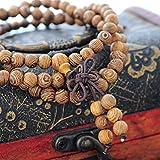 MJARTORIA-Lebensbaum-Sandelholz-Kugel-Holzmehr-Perlen-Strang-Armband-Buddhistisches-Armband-Stammes-Surfer-Wickelarmband-mit-Schleife-Verschliess-Elastische-Kette