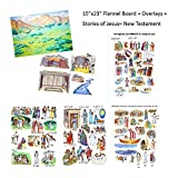 Story Life Of Jesus + Flannel Board + Overlays Precut 13 Bible New Testament Stories Birth Miracles Parables Crucifixion