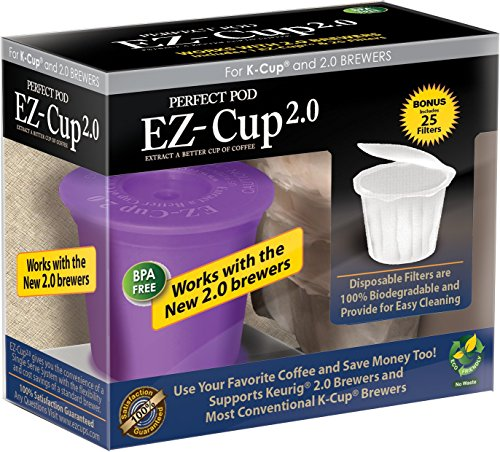 EZ-Cup 2.0 by Perfect Pod for Keurig 2.0 - K200, K300, K400, K500 Series