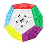 Coogam Qiyi Megaminx Cube Sculpted Stickerless Pentagonal Dodecahedron Speed Cube Puzzle Toy (Qiheng S Version)