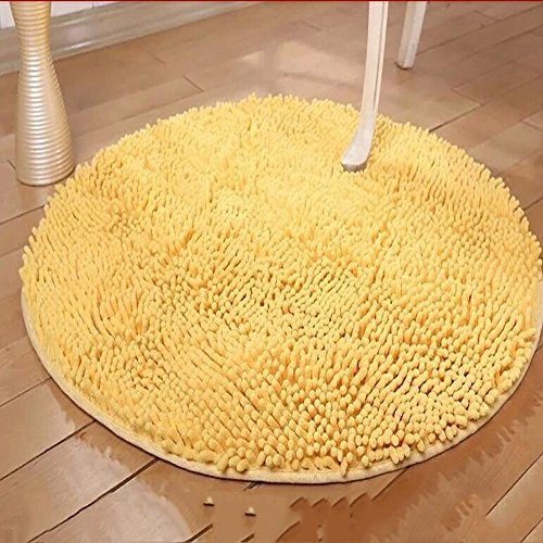 new-day-tapis-de-sol-tapis-rond-a-ultra-feuillet-lavable-goose-yellow-120120cm