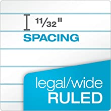TOPS Docket Legal Pads, Legal Rule, 8.5 x 14 Inches, White, 50 Sheets/Pad, 12 Pads/Pack (63590)