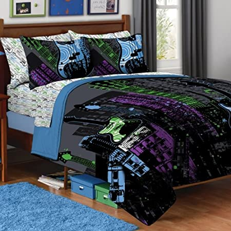 Guitar Rock Music Full Queen Comforter Set