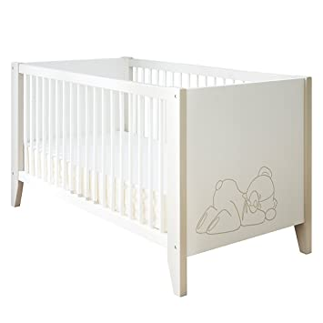 babybett ourson in samtwei und beige mit teddy b r motiv da318. Black Bedroom Furniture Sets. Home Design Ideas