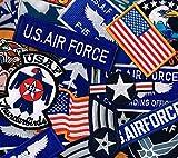 アメリカ軍 ミリタリーワッペン お任せ6枚セット 4軍ご要望あり wappen-set-6 (米空軍多め)