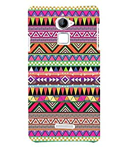Abstract Color Pattern 3D Hard Polycarbonate Designer Back Case Cover for Coolpad Note 3 Lite