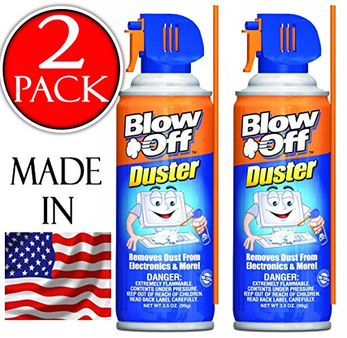 Compressed Air Duster Can MAX Professional Cleaner 1229 Blow Off Non-toxic & No Bitternt 3.5oz. Stop the Build-up of Dust in Your Electronics, Clogging up the Cooling Fan. (Laptop Fan Cleaner compare prices)