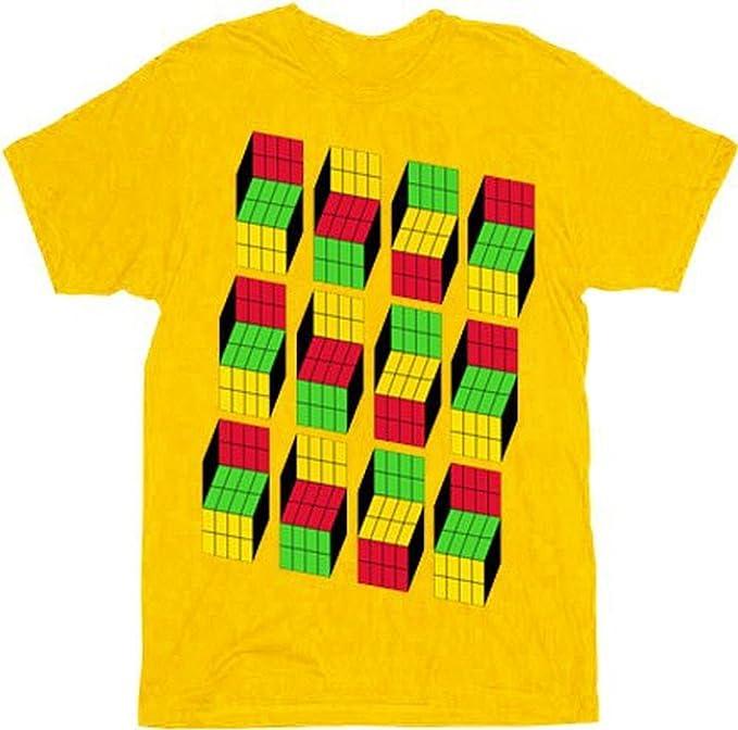 Yellow Opti Blocks Graphic T-Shirt