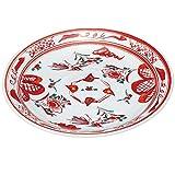 九谷焼 盛皿 赤絵