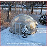 GREENHOUSE GEODESIC DOME 16 FT. With Marine Poly Cover for Hydroponic Gardening (Color: silver)