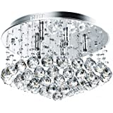 Jago DEKL05 Ceiling Light Droplet Hanging Crystal 6 Light Fixture Energy Efficiency Class A++ to E