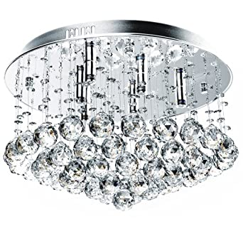 jago dekl05 suspension 6 ampoules billes de cristal effet. Black Bedroom Furniture Sets. Home Design Ideas