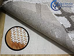Non Slip Rug Pad Rug Gripper Area Rug Pad Protect Floor Hold Mat Carpet in Place for All Surfaces 100% Guaranteed Higher Quality Woven Design Extra Strong Grip No Marks Or Residue Size 3x5 5x8 6x9