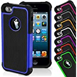 CellBoutique TM ShockProof Triple Hard back Case Cover For Apple iPhone 4s 5s 5c 6 6 Plus With Screen Protector (iPhone 4 4s, Green)