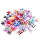 200 Pack Assorted Clear Colorful 3/8