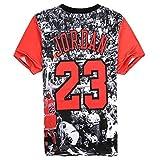 Bonita Unisex Harajuku 3D T-Shirt Jordan 23 Casual Top Tee (M)