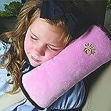 LKE Auto Pillow Car Safety Belt Protect Shoulder Pad Adjust Vehicle Seat Belt Cushion for Kids Children (pink)