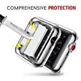 Smiling Silver Case for Apple Watch Serie 3 38mm Case Buit in TPU Screen Protector All-around Protective Case High Defination Clear Ultra-Thin Cover for iwatch 38mm Series 3 and Series 2 (silver 38mm) (Color: silver, Tamaño: 38 mm)