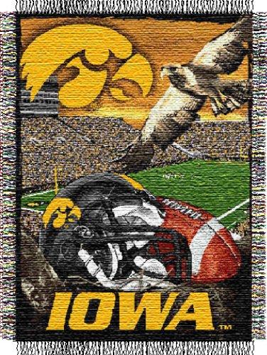 NCAA Iowa Hawkeyes 48-Inch-by-60-Inch Acrylic Tapestry Throw