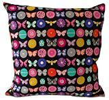 Mia & Stitch Mia & Stitch Square Butterfly and Flowers Cushion Covers, 20 , Black