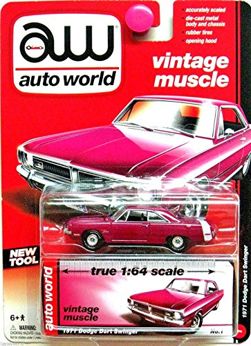 Auto World Vintage Muscle 1971 Dodge Dart Swinger - Magenta