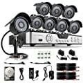 Zmodo 8CH HDMI 960H P2P DVR 600TVL CCTV Home Video Surveillance Outdoor Indoor Day Night Security Camera System w/ 1TB Hard Drive Scan QR Code to Easy Remote Access Free 2-Year Warranty
